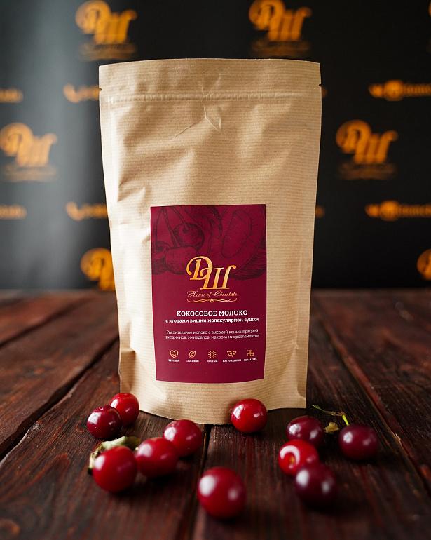 https://domchokolada.ruКокосовое молоко с ягодами вишни фото упаковки